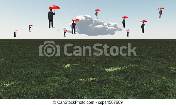 Surreal Floating Men - csp14507669