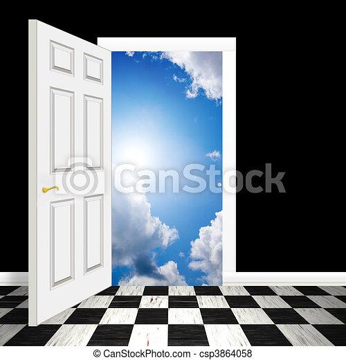 Surreal Heavenly Doorway - csp3864058