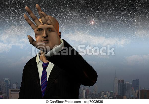 Surreal man - csp7003636
