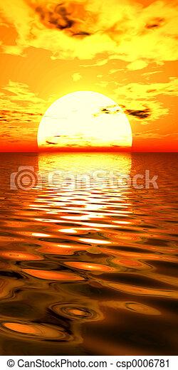 surreal, salida del sol - csp0006781