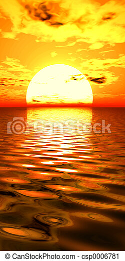 surrealismus, východ slunce - csp0006781