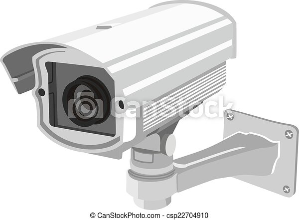 surveillance camera for building and security clipart search rh canstockphoto com Security Camera Screen security camera black and white clipart