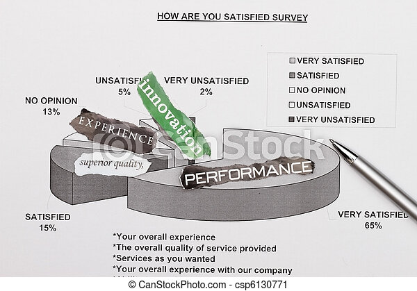 survey and pie graph - csp6130771