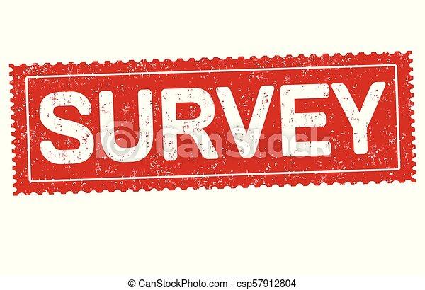 Survey grunge rubber stamp - csp57912804