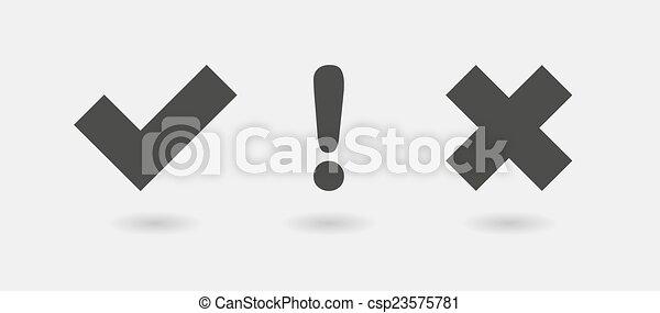 survey icon set - csp23575781