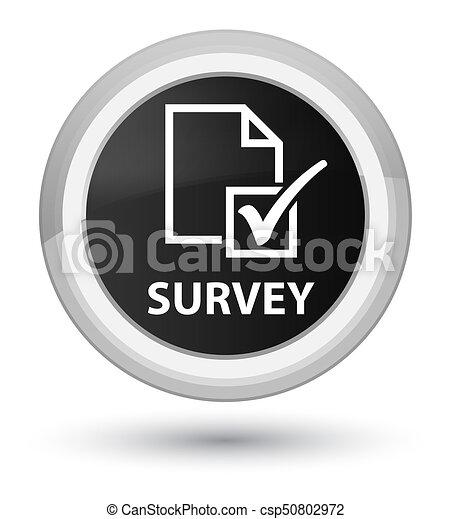 Survey prime black round button - csp50802972