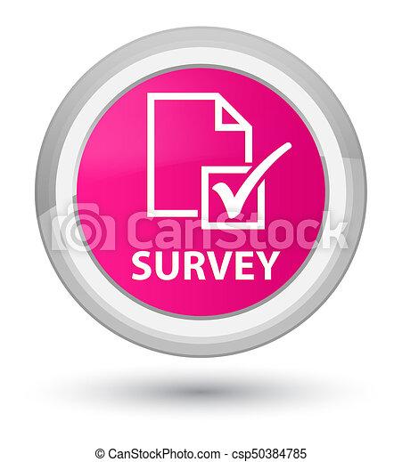 Survey prime pink round button - csp50384785