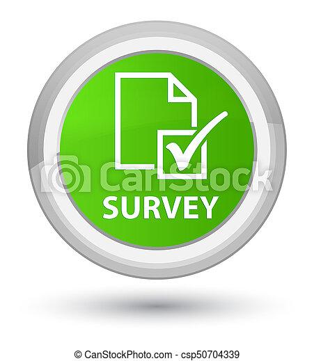 Survey prime soft green round button - csp50704339