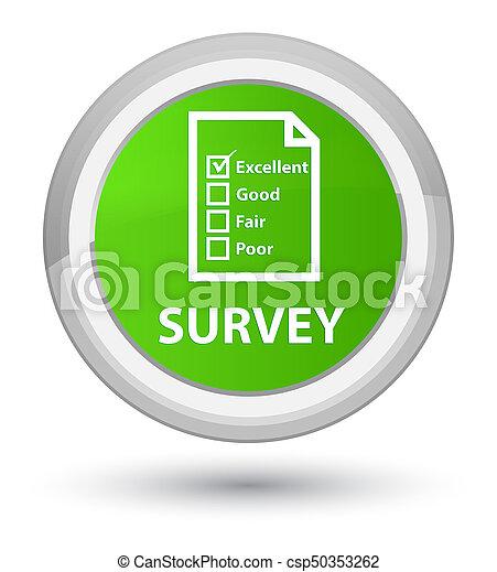 Survey (questionnaire icon) prime soft green round button - csp50353262
