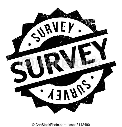 Survey rubber stamp - csp43142490