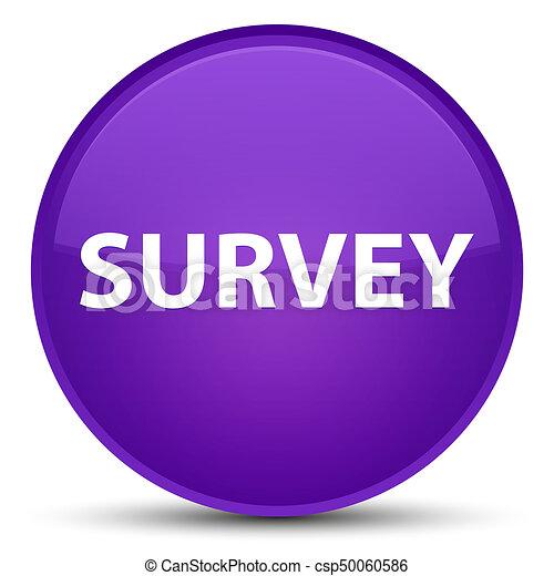 Survey special purple round button - csp50060586