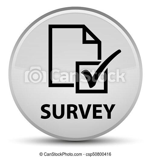 Survey special white round button - csp50800416