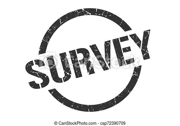 survey stamp - csp72390709