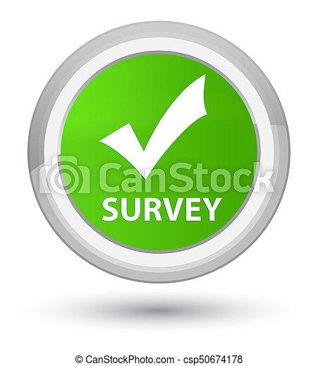 Survey (validate icon) prime soft green round button - csp50674178