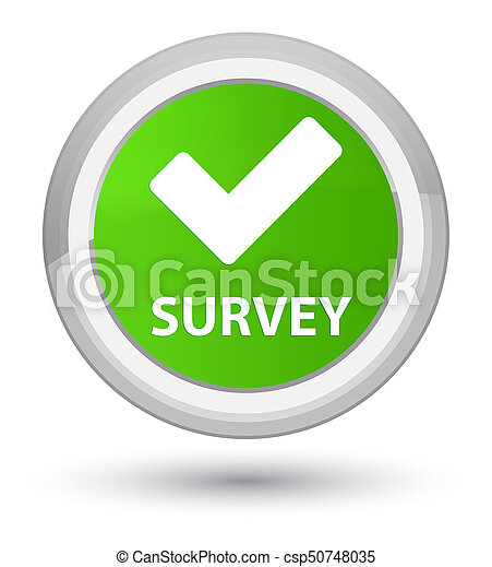 Survey (validate icon) prime soft green round button - csp50748035