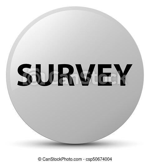 Survey white round button - csp50674004