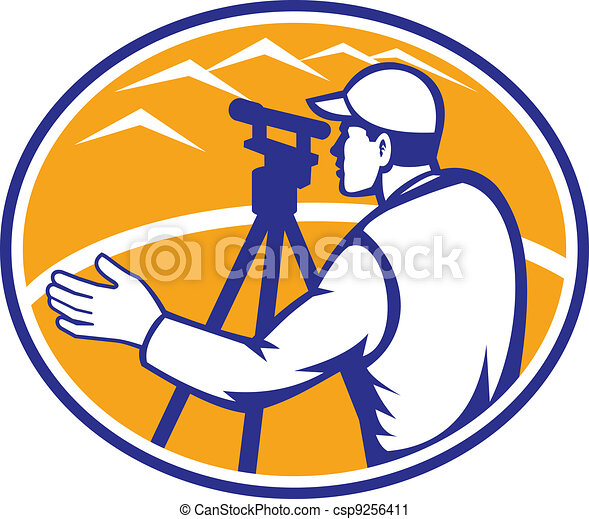 Surveyor Engineer Theodolite Total Station - csp9256411