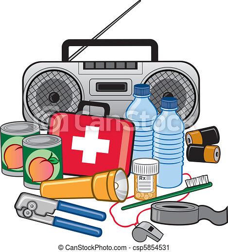 survie, état préparation, urgence, kit - csp5854531