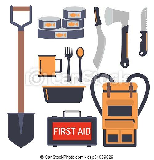 Survival emergency kit for evacuation vector equipment ...