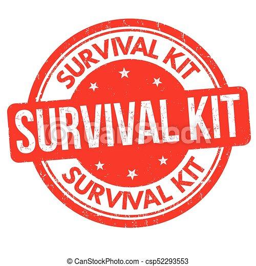 survival kit grunge rubber stamp on white background vector rh canstockphoto com clipart survival kit survivor clipart