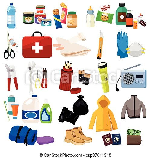 survival kit icons a vector illustration of survival kit vector rh canstockphoto com survivor clip art free survivor clip art free