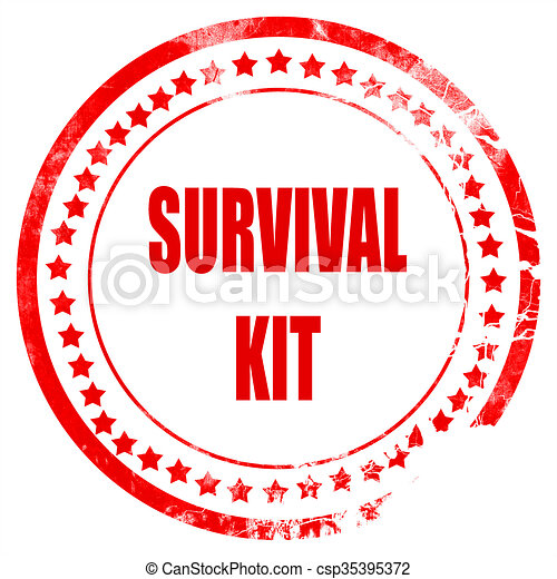 survival kit sign with some soft flowing lines rh canstockphoto com survival skills clipart survival guide clipart