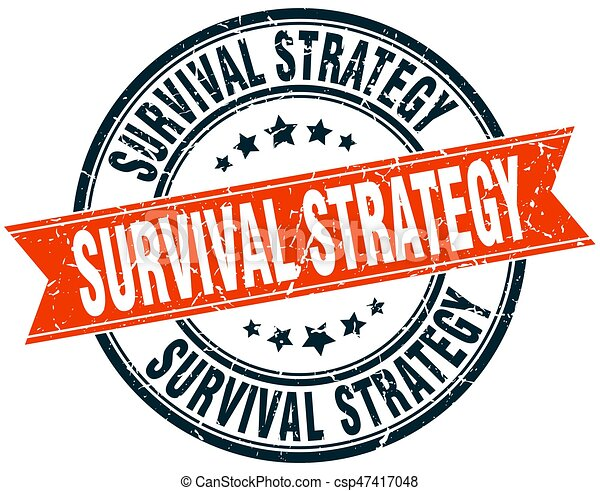 survival strategy round grunge ribbon stamp eps vector search clip rh canstockphoto com wilderness survival clipart survival guide clipart
