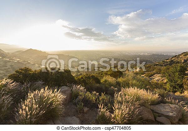 susana, 公園, アンジェルという名前の人たち, los, 州, 歴史的, santa, パス, 日の出 - csp47704805