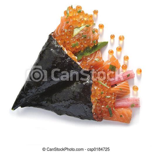 Sushi appetizer detail
