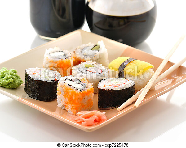 sushi assortment - csp7225478