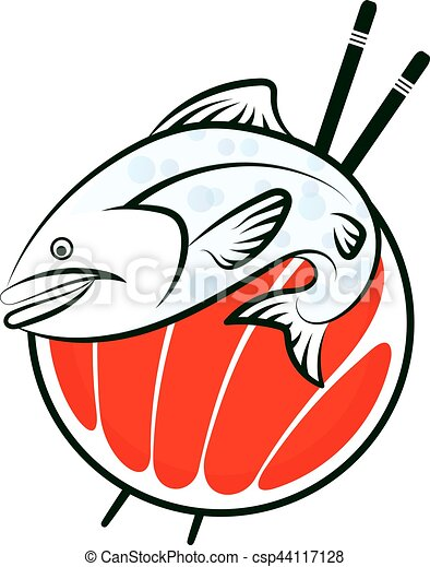 sushi fish vector sushi fish symbol for vector vector illustration rh canstockphoto com koi fish vector art fish vector art free download
