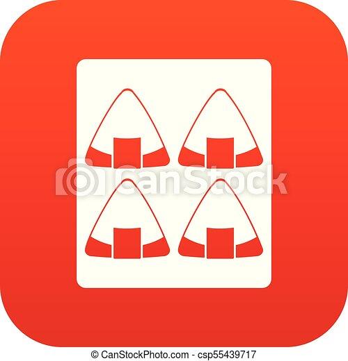 Sushi icon digital red - csp55439717