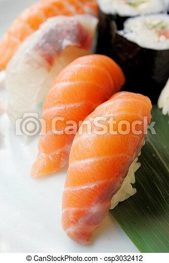 sushi, japanese daily food - csp3032412