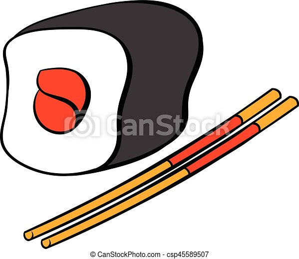 sushi roll icon cartoon sushi roll icon in cartoon style vector rh canstockphoto com sushi victoria sushi victoria tx