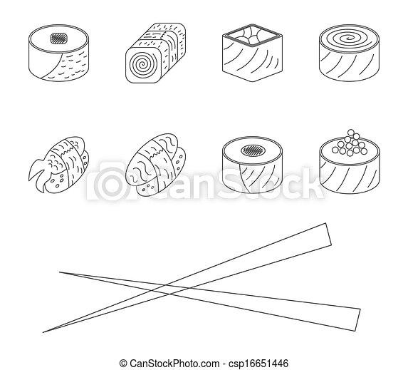 Sushi set. - csp16651446