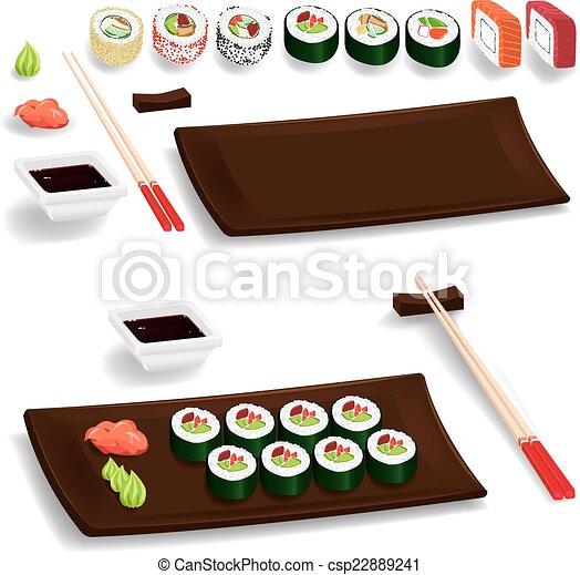 Sushi set - csp22889241