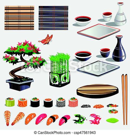 Sushi set - csp47561943