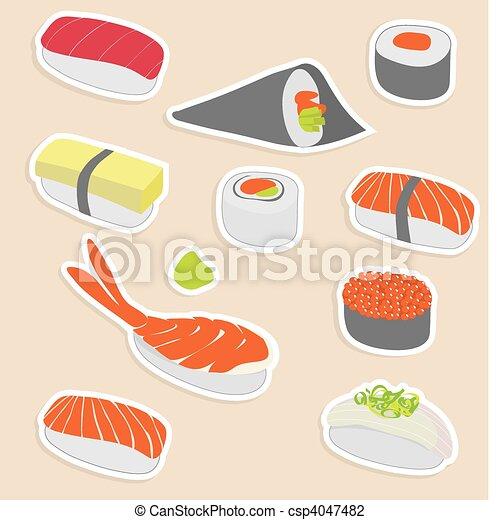 sushi set - csp4047482