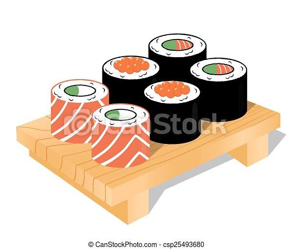 Sushi set, vector - csp25493680