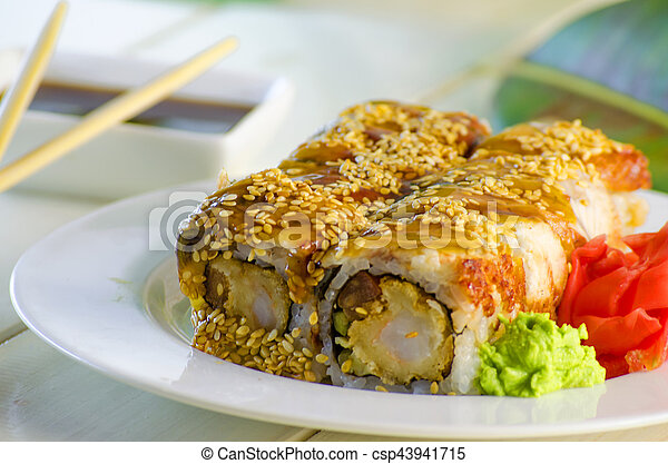 sushi with eel - csp43941715