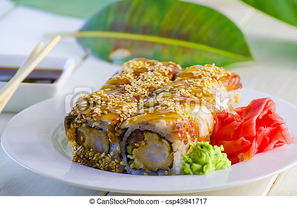 sushi with eel - csp43941717