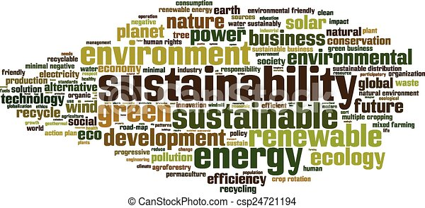 Sustainability word cloud - csp24721194