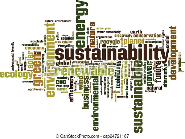 Sustainability word cloud - csp24721187