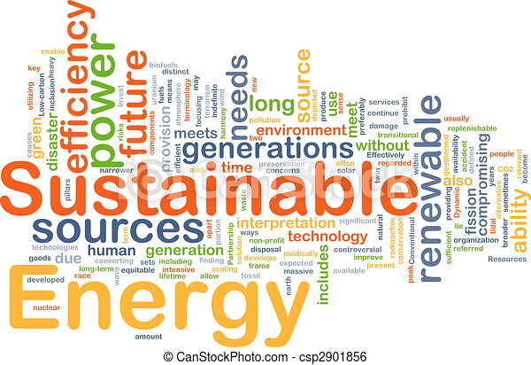 Sustainable energy background concept - csp2901856