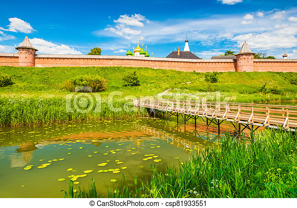 Suzdal cityscape on a summer day. The Golden Ring of Russia - csp81933551