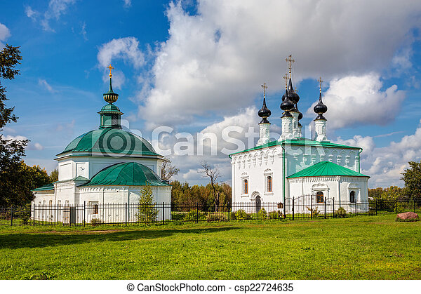 Suzdal. Friday Church and Entry into Jerusalem church - csp22724635