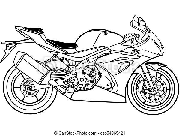 Suzuki gsx1000r blueprint vector stock vector clipart suzuki suzuki gsx1000r blueprint vector malvernweather Image collections