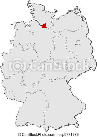 Svetelne Zvyrazneni Mapa Nemecko Hamburg Mapa Verejny