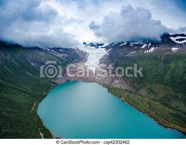 Svartisen Glacier in Norway. - csp42302462