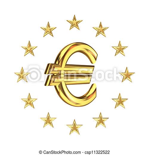 e2b497b6d Svaz, znak, euro, podpis., evropský. Sign.isolated, rendered., svaz ...